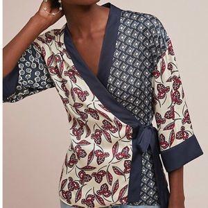 Anthro - Patchwork kimono blouse